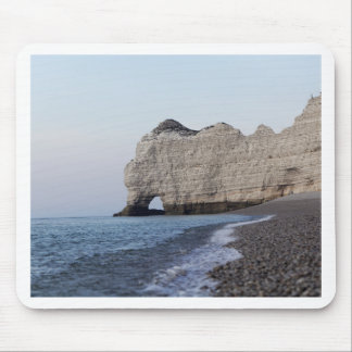 The coast at the Aval cliffs of Etretat Mouse Pad