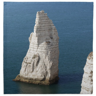The coast at the Aval cliffs of Etretat Napkin