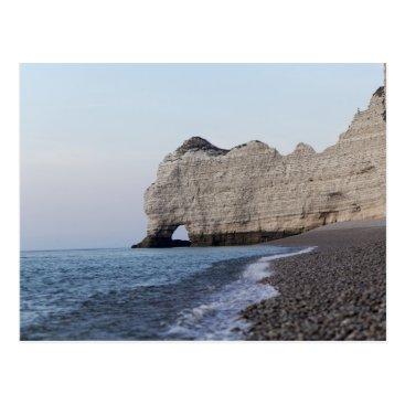 Beach Themed The coast at the Aval cliffs of Etretat Postcard