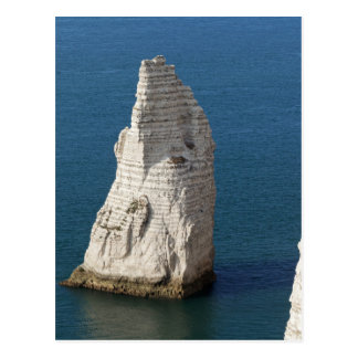 The coast at the Aval cliffs of Etretat Postcard