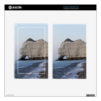 The coast at the Aval cliffs of Etretat Skins For Kindle Fire