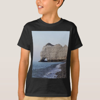 The coast at the Aval cliffs of Etretat T-Shirt