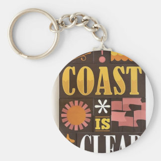 The coast is clear keychain