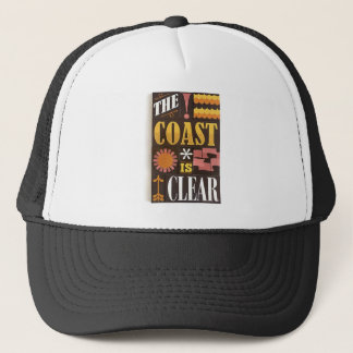 The coast is clear trucker hat