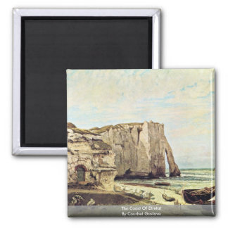 The Coast Of Etretat By Courbet Gustave 2 Inch Square Magnet