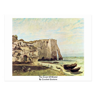 The Coast Of Etretat By Courbet Gustave Postcard
