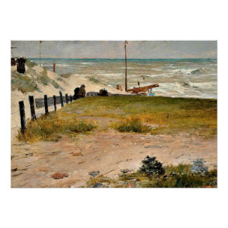 The Coast of Holland, William Merritt Chase art Poster