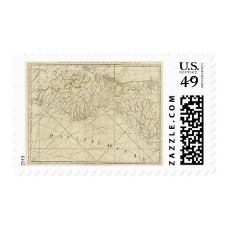 The Coast of New Spain from Neuva Postage Stamp
