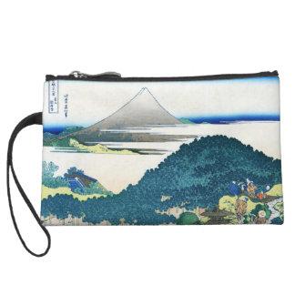 The coast of seven leages in Kamakura Hokusai Wristlet Purses
