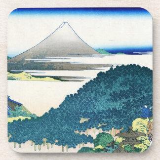 The coast of seven leages in Kamakura Hokusai Beverage Coaster