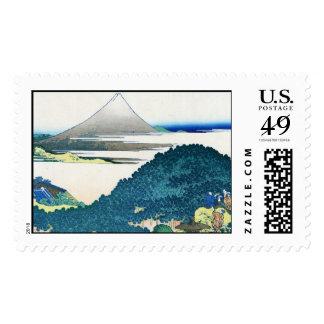 The coast of seven leages in Kamakura Hokusai Postage