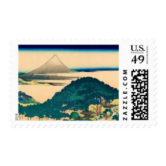 The coast of seven leagues in Kamakura Stamp