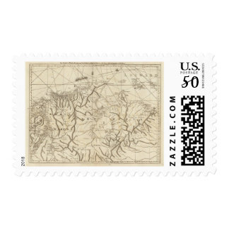 The coast of Tierra Firma from Cartagena Postage