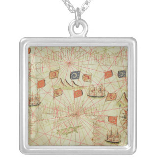 The Coast of Turkey and Cyprus Silver Plated Necklace