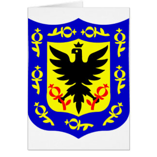 The coat of arms of Bogota, Colombia. Card