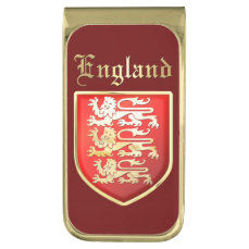 The Coat Of Arms Of England Gold Finish Money Clip