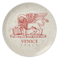 The Coat of Arms of Venice, Italy Melamine Plate