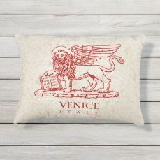 The Coat of Arms of Venice, Italy Outdoor Pillow