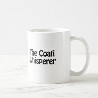 the coati whisperer coffee mug