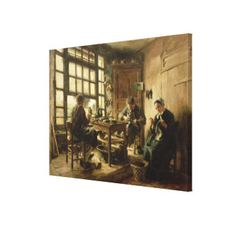 The Cobblers, 1880 Canvas Print