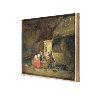 The Cobbler's (oil on panel) (pair of 134462) Canvas Print