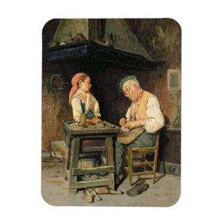The Cobbler's Shop, 1874 (oil on panel) Rectangular Photo Magnet
