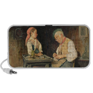 The Cobbler's Shop, 1874 (oil on panel) Laptop Speakers