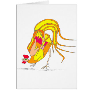 The COCK 1.PNG Greeting Card