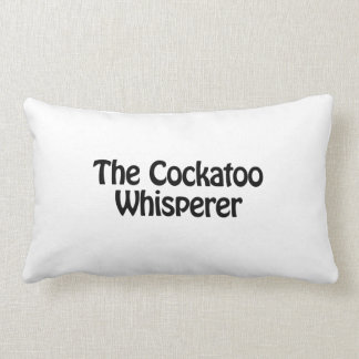 the cockatoo whisperer throw pillow