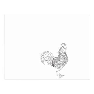 "The cockerel ""waltz "" postcard"