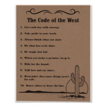 The Code of the West Poster