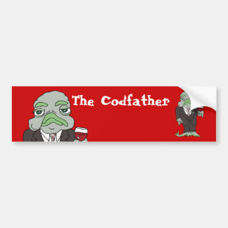 The Codfather Bumper Sticker Car Bumper Sticker