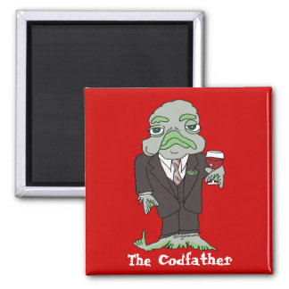 The Codfather Cartoon Fish Magnet Godfather