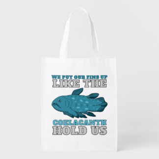The Coelacanth Hold Us (Two-Sided) Reusable Grocery Bags