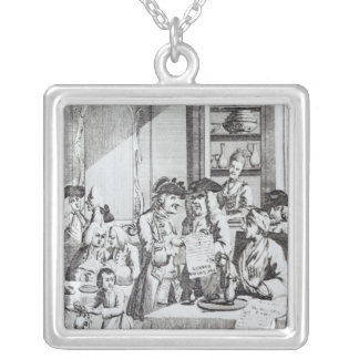 The Coffee House Politicians Square Pendant Necklace