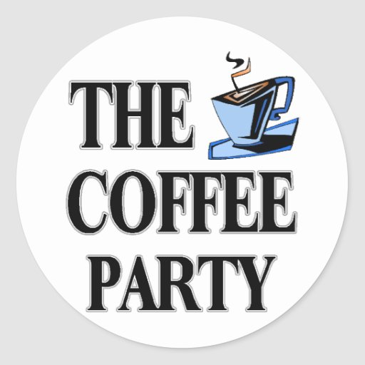 The Coffee Party Classic Round Sticker