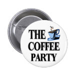 The Coffee Party Pinback Buttons
