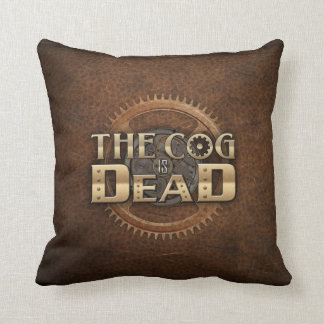 The Cog is Dead Throw Pillow