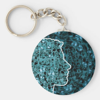 The Cogs of Life Basic Round Button Keychain