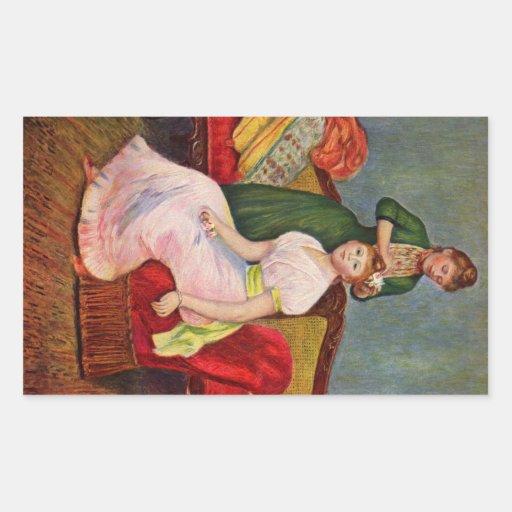 The Coiffoire by Pierre Renoir Rectangular Stickers