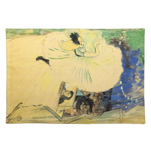 The coil by Toulouse-Lautrec Place Mat