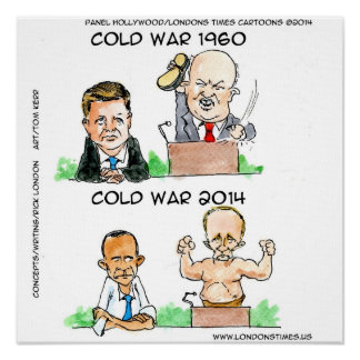 The Cold War Ukraine Russia & USA Funny Poster