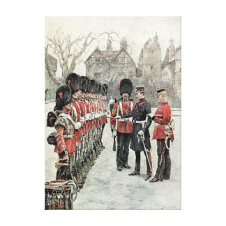 The Coldstream Guards at the Tower Gallery Wrapped Canvas
