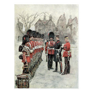 The Coldstream Guards at the Tower Postcard
