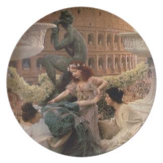 The Coliseum, 1896 (oil on panel) Melamine Plate