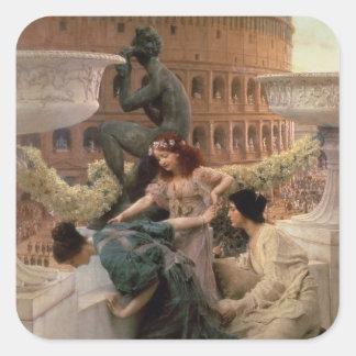 The Coliseum, 1896 (oil on panel) Square Sticker