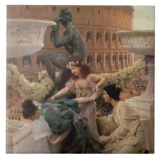 The Coliseum, 1896 (oil on panel) Tile