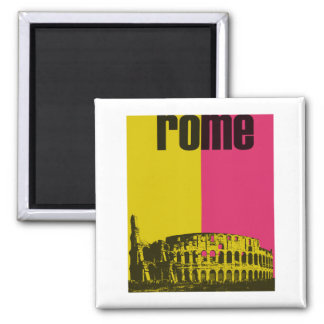 The Coliseum in Rome 2 Inch Square Magnet