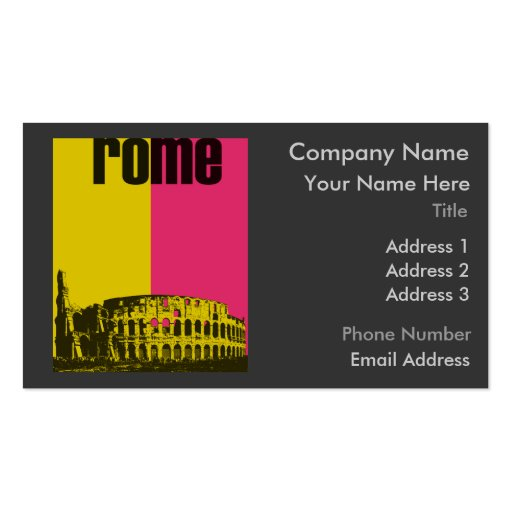 The Coliseum in Rome Business Card Templates