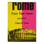 The Coliseum in Rome Personalized Invitations